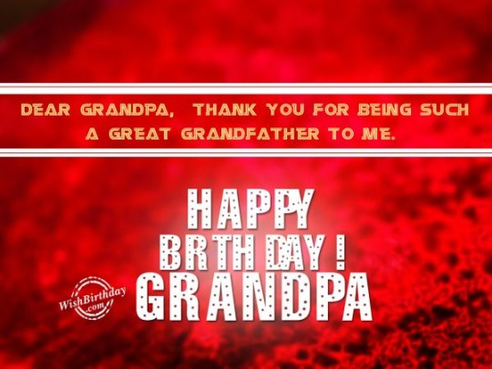 My Grandpa B'day Card Greetings For A Special Day Of Life