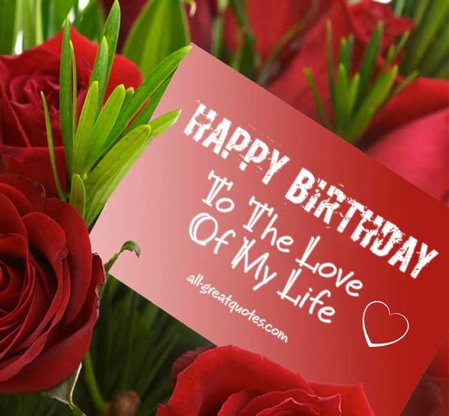 Lover Birthday Greeting Card With Wonderful Roses For Your Great Day