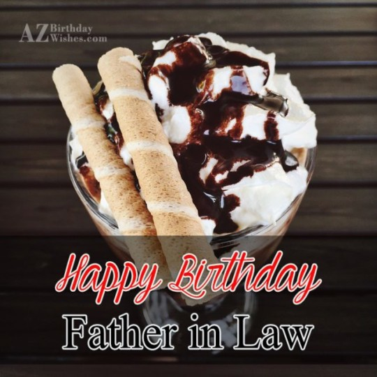 Nice Father In Law Birthday Wishes Greeting E-Card 7s