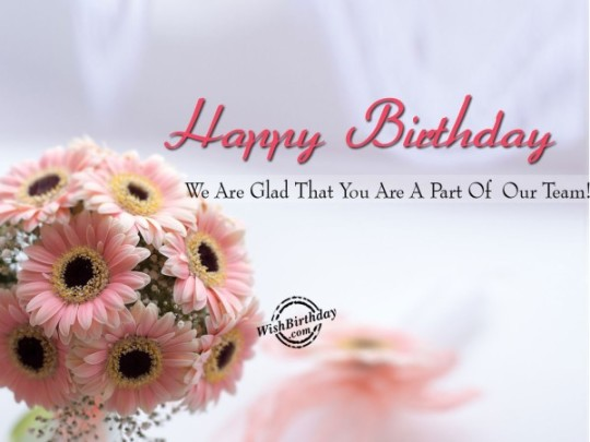 Nice Flower Birthday Card With Beautiful Dreams For Employee