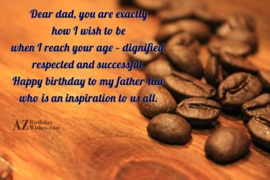 Outstanding Father In Law Birthday Wishes Greeting E-Card 7s