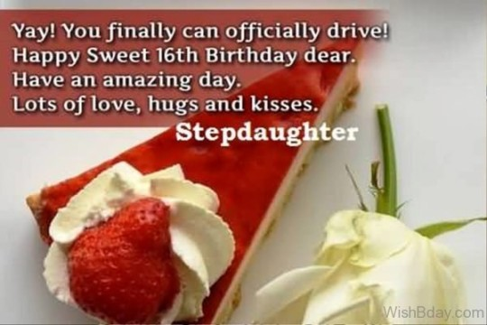 Radiant Stepdaughter Birthday Greeting E-Card With Best Wishes