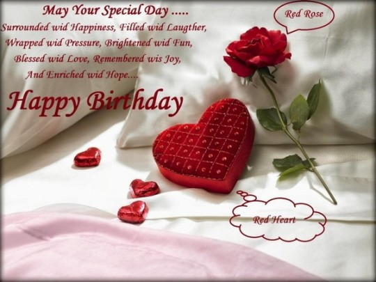 Romantic Birthday Wishes E-Card With Greetings Image 7s