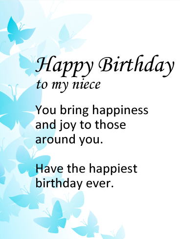 Simple Birthday Wishes Birthday E-Card Greeting For Niece 121s