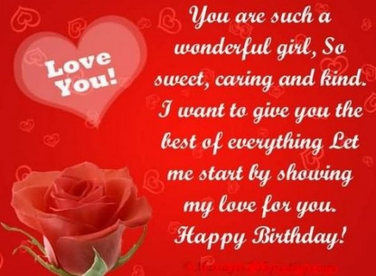 Something Love Birthday Card With Greetings For Lover