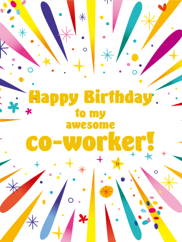 Sparkling Birthday Wishes Greetings E-Card For Best Employee
