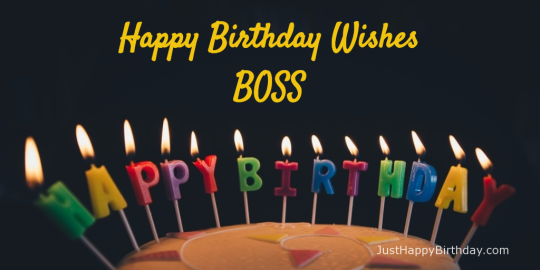 Sparkling Candles Images For Birthday Wishes With Sayings E-Card For My Boss E7