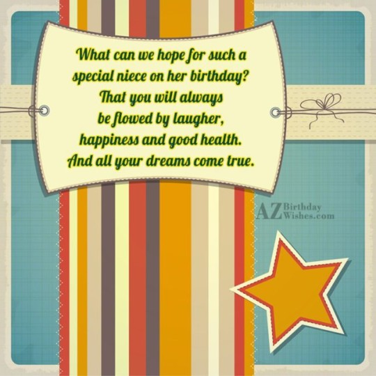 Star Wonder Birthday Wishes Birthday E-Card Greeting For Niece 121s