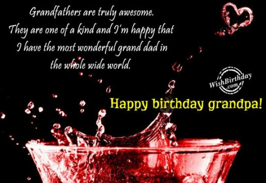 Stupendous Birthday Message With Image For Grandpa