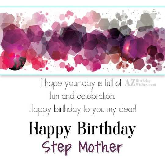 Stupendous Birthday Wishes With Greetings Images For Stepmother