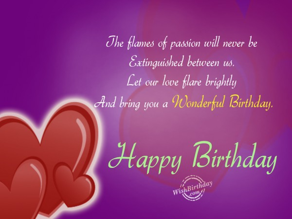 Heart Touching Birthday Wishes With Quotes For My Lover - NiceWishes