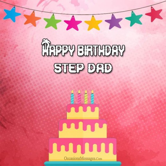 Superb Birthday Greetings E-Card For Stepfather