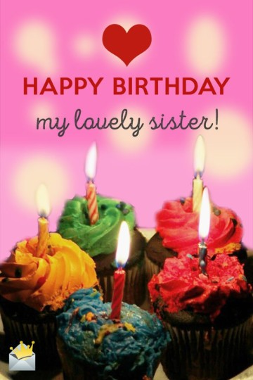 Superb Birthday Wishes With Greetings For My Sister