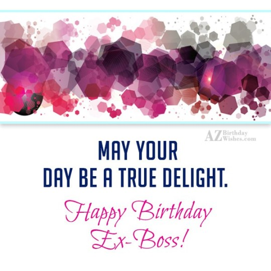 Superb Ex-Boss Birthday Wishes Greeting E-Card