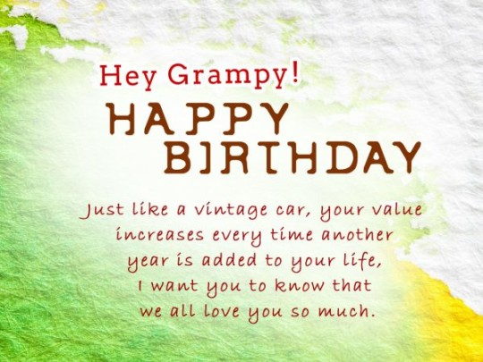 Superior Birthday Message For My Grandfather 7s