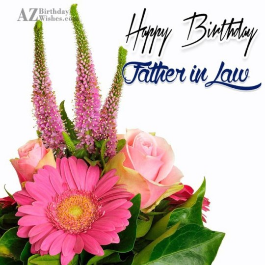 Supreme Father In Law Birthday Wishes Greeting E-Card 7s