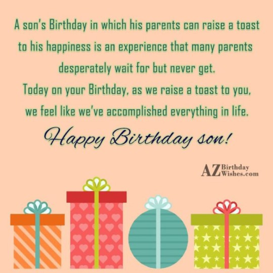 Surprising Birthday Wishes With Greetngs Quotes For My Son E-Card 7s