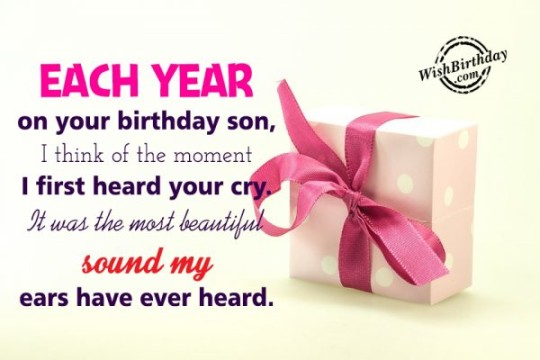 Surprising Birthday Wishes With Greetngs Quotes For My Star Son E-Card 7s