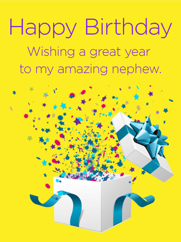 Surprising Brilliant Birthday Greeting Card For Best Nephew_E-Card_156jf4jf6uri7s