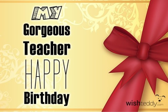 Surprising Image For Teacher Birthday Wishes