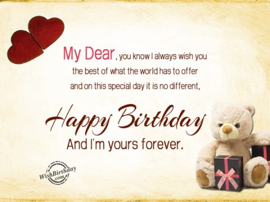 Surprising Images For Birthday Wishes With Sayings E-Card For My Love 7S9sh