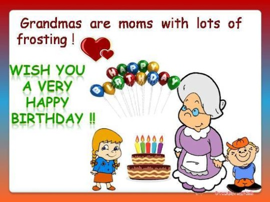 Sweet  Birthday E-Card Greetings For Grandmom