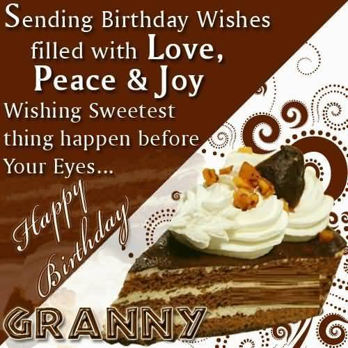 Tasty Birthday E-Card Greetings For Grandmom