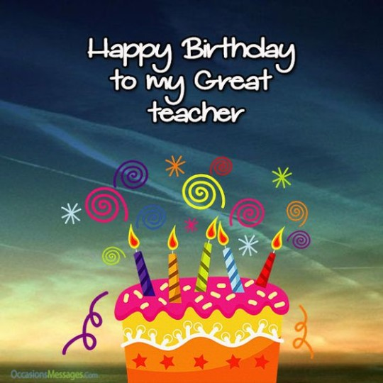 Teacher Birthday Greeting Card For Stupendous Day