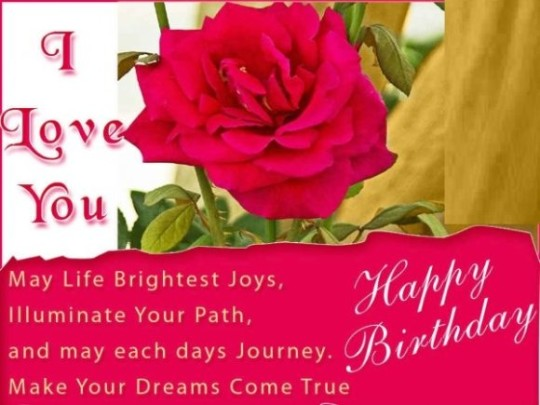 Ultimate Images For Birthday Wishes With Sayings E-Card For My Love 7S9sh