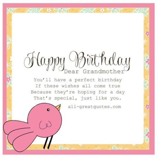 Unique Birthday E-Card Greetings For Grandmom