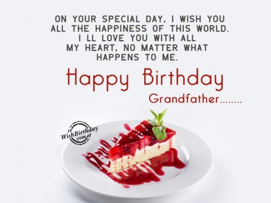 Unique Birthday Message with Sweet dish For Grandpa