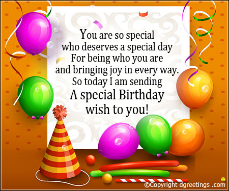 Unique Birthday Wishes With Greetings Quotes For Someone Very Special 7s