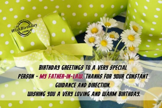 Unique Father In Law Birthday Wishes Greeting E-Card 7s