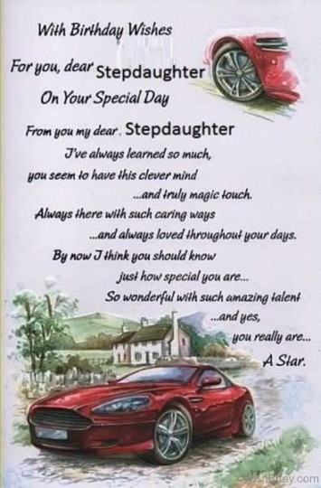 Wonderful Birthday Wishes For Stepdaughter