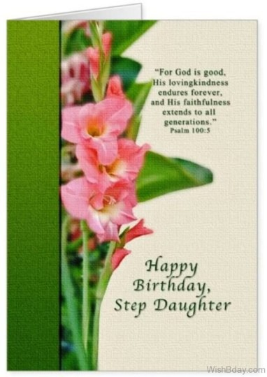 Wonderful Birthday Wishes With Greet Card For Stepdaughter