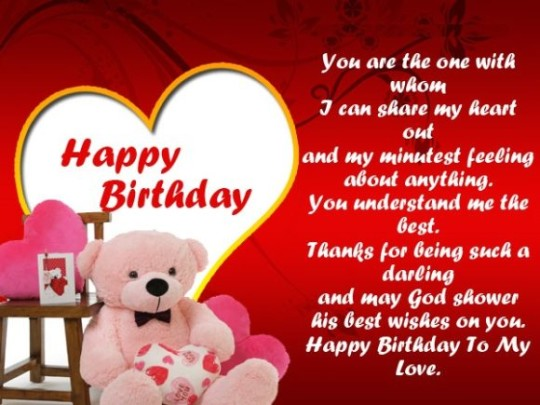 Wonderful Birthday Wishes With Sayings E-Card For My Life 7sno9s
