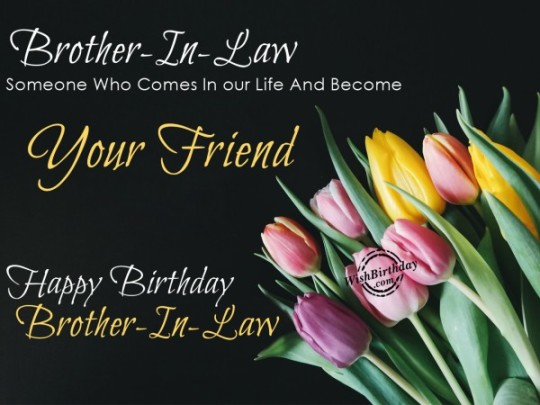 Wonderful Brother In Law Birthday Wishes E-Card
