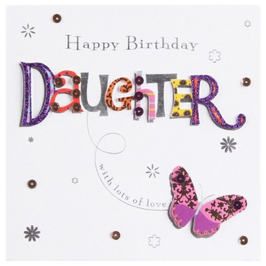 Wonderful Butterfly Card With Fabulous Greeting To Her