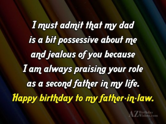Wonderful Father In Law Birthday Wishes Greeting E-Card 7ss