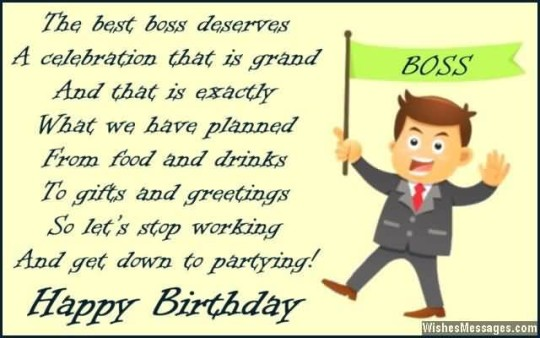 Wonderful Images For Birthday Wishes With Sayings E-Card For My Boss E7
