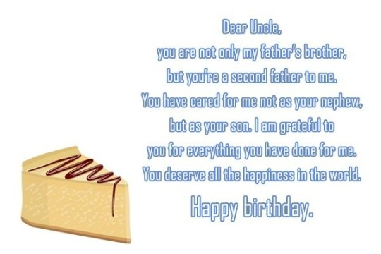 Wonderful Message Of Birthday Wishes For Uncle