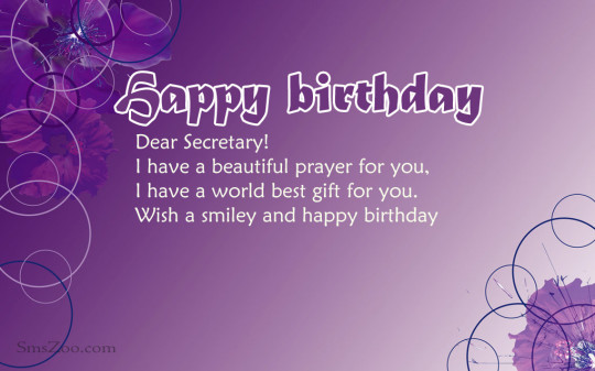 Wonderful Secretary Birthday Greeting For Special Day