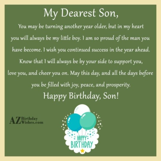 birthday wishes for sons - happy birthday quotes  messages  u0026 ecards