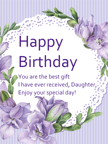 Wonderful birthday Wishes With Greetings for Daughter