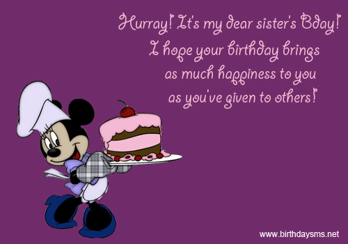 Wondrous Birthday Wishes With Greetings For My Sister
