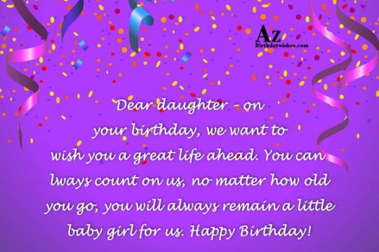 Wondrous Daughter Birthday Wishing Message E-Card